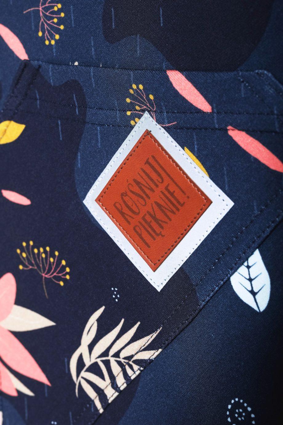 kolorowa tunika z odblaskiem