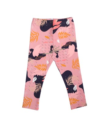 różowe legginsy