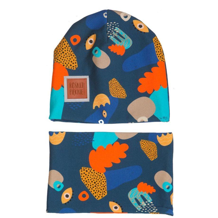 czapka z kominem Oczko
