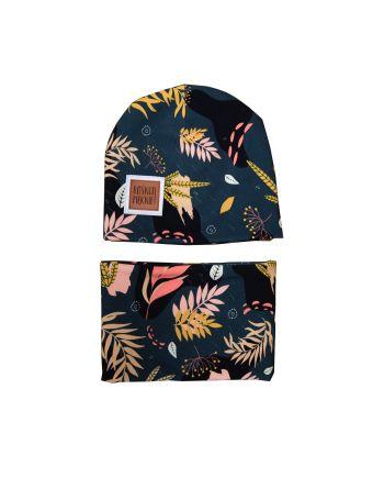 zestaw czapka z kominem