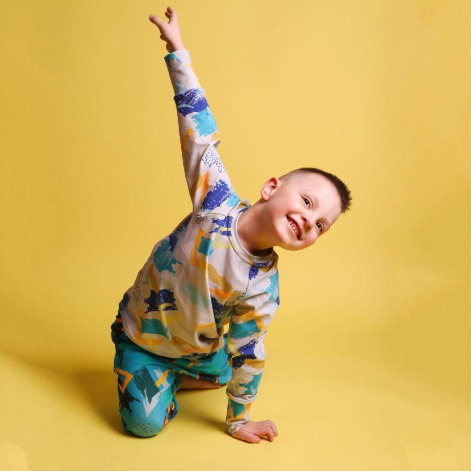 Bluzka z długim rękawem dla chłopca, na 3 rozmiary, ROŚNIJ PIĘKNIE!