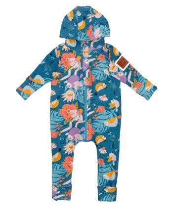 Rampers dla dziewczynki, uszyty z bawełny dresowej, z patentem na przewijanie, rosnący z dzieckiem. Starczy na 3 rozmiary. Piękne wzory.